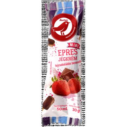 Auchan Nívó Epres jégkrém tejcsokoládés bevonattal 50 ml / 30 g