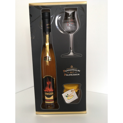 Ginger Liqueur from Pannonhalma in Giftbox with glas and jam