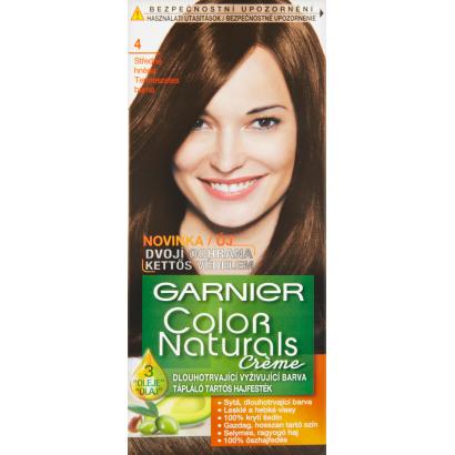Garnier Color Naturals Creme 4 természetes barna tápláló tartós hajfesték