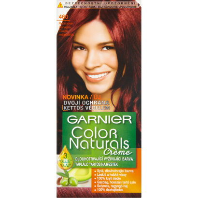 Garnier Color Naturals Creme 460 tüzes mélyvörös tápláló tartós hajfesték