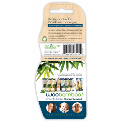 woobamboo eco-awesome floss biodegradable silk