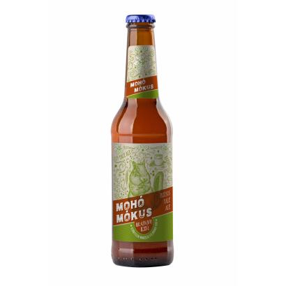 Auchan Nívó Mohó Mókus Rozsos Pale Ale szűretlen minőségi félbarna sör 330 ml