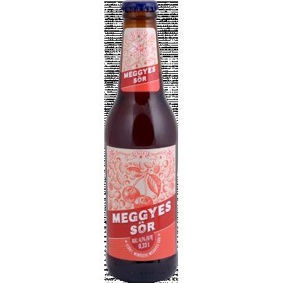 Auchan Nívó Szűrt, minőségi meggyes sör. Alk.: 4,1% 330 ml