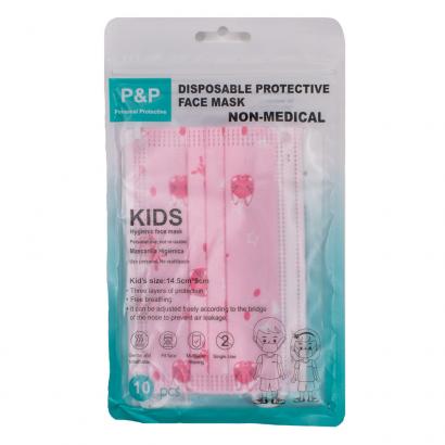 Gyermek szájmaszk rózsaszín 10db