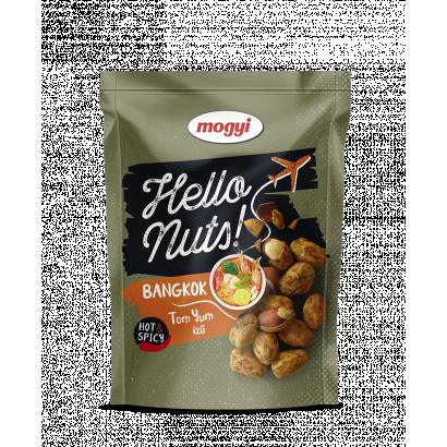Mogyi Hello Nuts! Bangkok tom yum ízű, csicseriborsós tésztabundában pörkölt földimogyoró 100 g