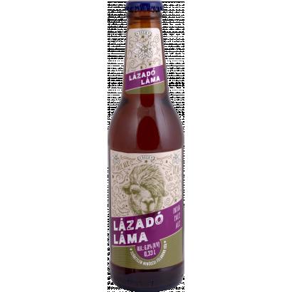 Auchan Nívó Lázadó Láma Ipa, India Pale Ale, szűretlen minőségi félbarna sör. Alk.: 6,0% 330 ml