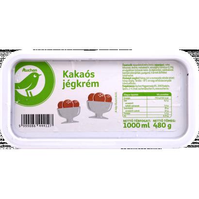 Auchan Optimum Kakaós jégkrém 1000 ml