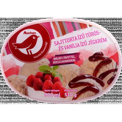 Auchan Nívó Sajttorta ízű jégkrém 900 ml