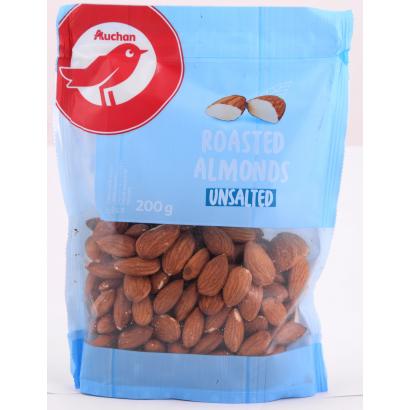 Auchan Nívó pörkölt sótlan mandula 200 g