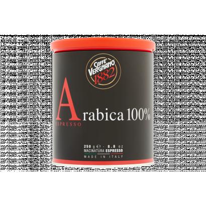 Vergnano 100% Arabica Espresso őrölt kávé fémdobozban kávégéphez 250 g