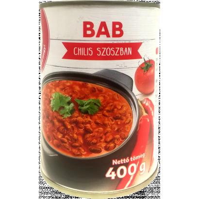 Auchan Nívó Bab chilis szószban 400 g