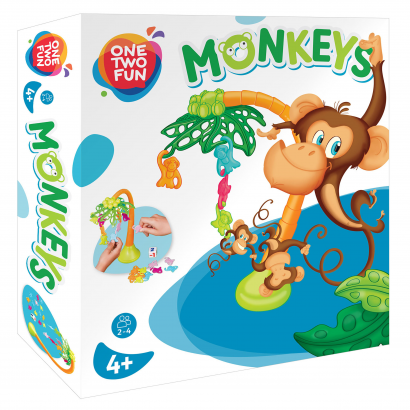 One Two Fun Függő majmos társasjáték