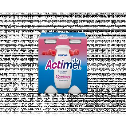 Danone Actimel L. casei zsírszegény, élőflórás, málnaízű joghurtital B6- és D- vitaminnal 4x100