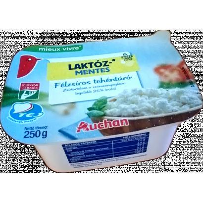 Auchan Nívó Laktózmentes félzsíros tehéntúró 250 g