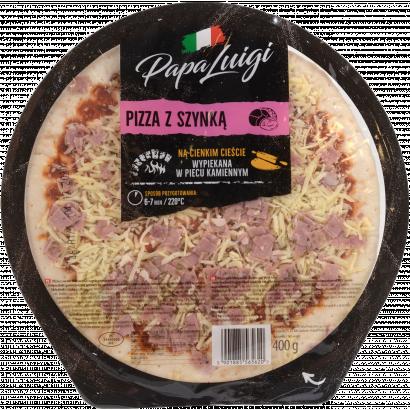 Papai Luigi sonkás-mozzarellás félkész pizza 400 gr