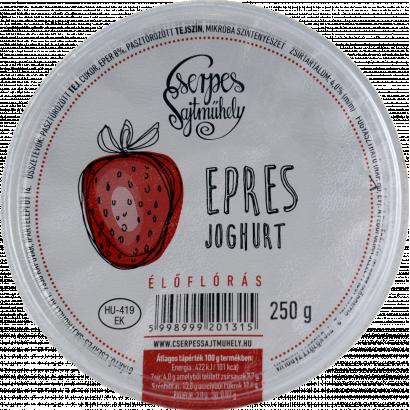 Cserpes joghurt epres élőflórás 250 g
