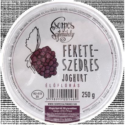 Cserpes feketeszedres élőflórás joghurt 250 g