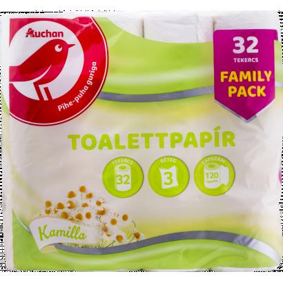 Auchan Nívó Kamilla illatú toalettpapír 3 rétegű 32 tekercs