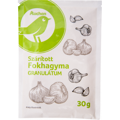 Auchan Optimum Szárított fokhagyma granulátum 30 g