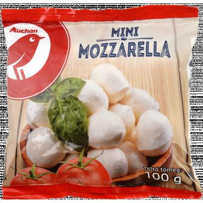 Auchan Nívó Mini Mozzarella zsíros lágy sajt 100 g