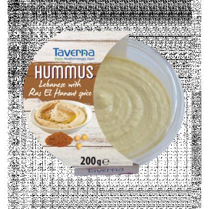 Hummus ras el hanout fűszerrel