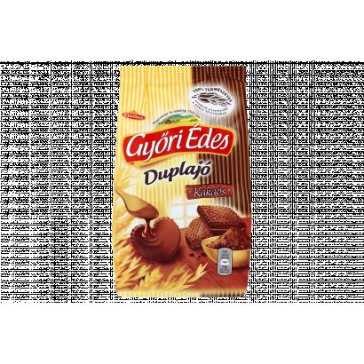 Győri Édes Duplajó kakaós bevonómasszával talpán mártott, kakaós, omlós keksz 150 g
