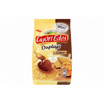 Győri Édes Duplajó kakaós bevonómasszával talpán mártott, omlós keksz 150 g