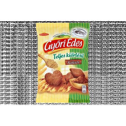 Győri Édes teljes kiőrlésű, omlós, kakaós keksz 180 g