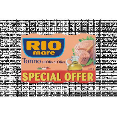 Rio Mare tonhaldarab olívaolajban 6 x 80 g