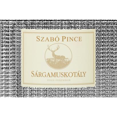 Szabó Pince Felső-Magyarországi Sárgamuskotály édes fehérbor 11% 0,75 l