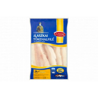 Classic gyorsfagyasztott alaszkai tőkehalfilé 800 g