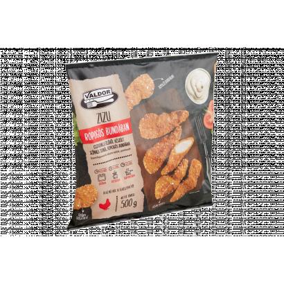 Valdor Zizu gyorsfagyasztott, készre sütött, panírozott csirkemellfilé ropogós bundában 500 g