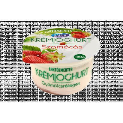 Galla laktózmentes réteges szamócás krémjoghurt 180 g