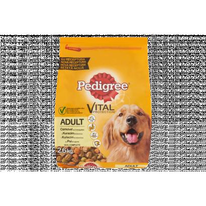 Pedigree száraz állateledel közepes méretű kutyák számára csirke-zöldség 2,6 kg