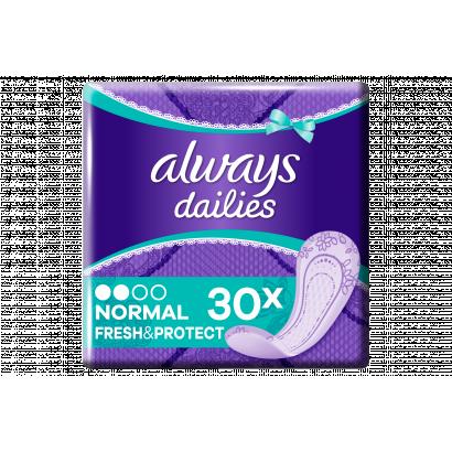 Always Dailies Normal Fresh Protect Fresh Tisztasági Betét, 30 db