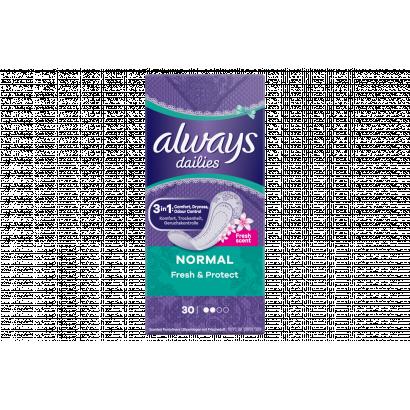 Always Dailies Normal Fresh Protect  Tisztasági Betét, 30 db