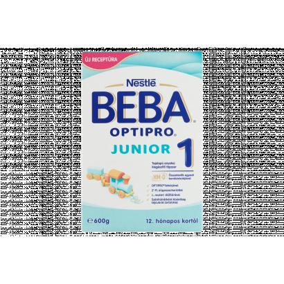 Beba Optipro Junior 1 tejalapú anyatej-kiegészítő tápszer 12. hónapos kortól 2 x 300 g (600 g)