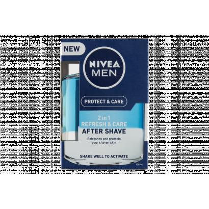 NIVEA MEN Protect & Care 2 in 1 Frissítő és Ápoló after shave lotion 100 ml