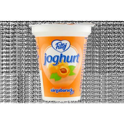 Fittej zsírszegény, sárgabarack ízű élőflórás joghurt 125 g