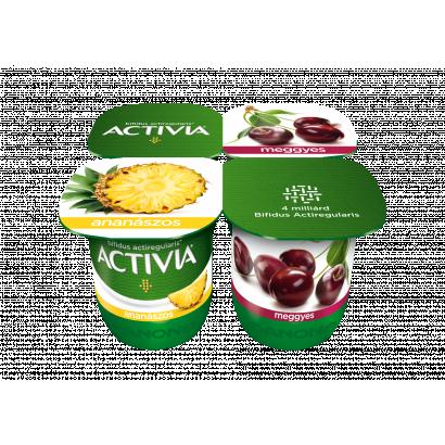 Danone Activia élőflórás málnás és sárgabarackos joghurt 4 x 125 g (500 g)