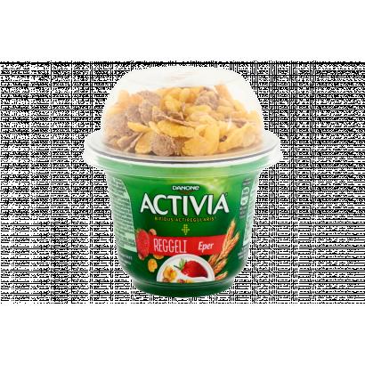 Danone Activia reggeli élőflórás eperízű joghurt búza- és kukoricapehellyel 168 g