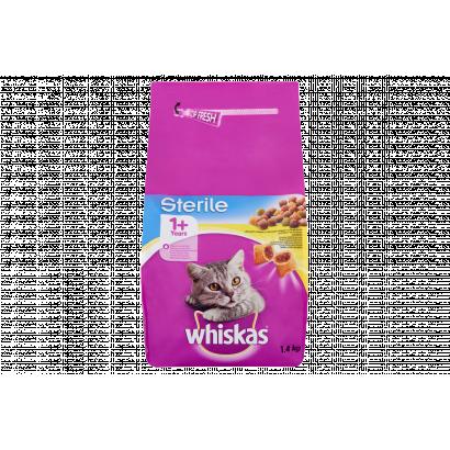 Whiskas Sterile száraz állateledel macskák számára csirkével 1,4 kg