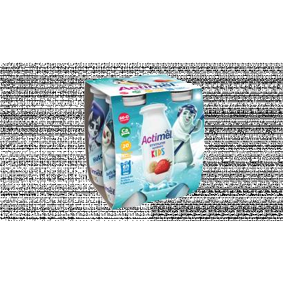 Danone Actimel Kids eper-banánízű joghurtital 4 x 100 g (400 g)