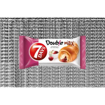 7DAYS Double Max croissant vanília ízű és meggyes töltelékkel 80 g