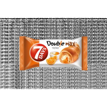 7DAYS Double Max croissant vanília ízű és narancsos töltelékekkel 80 g