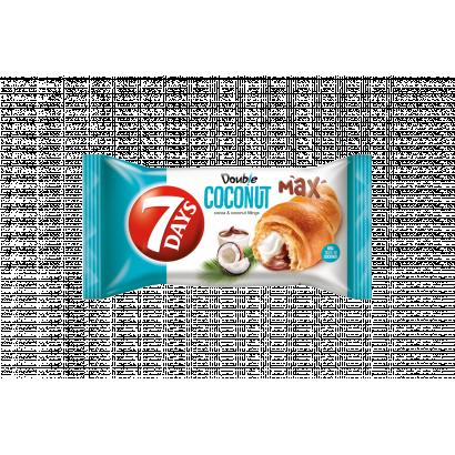 7DAYS Double Max croissant kakaós és kókuszos töltelékkel 80 g