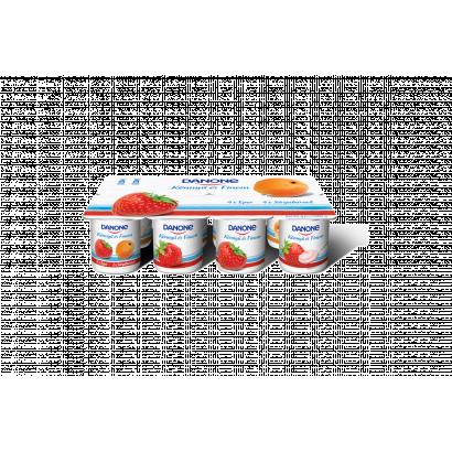 Danone Könnyű és Finom eperízű és sárgabarackízű, élőflórás, zsírszegény joghurt 8 x 125 g