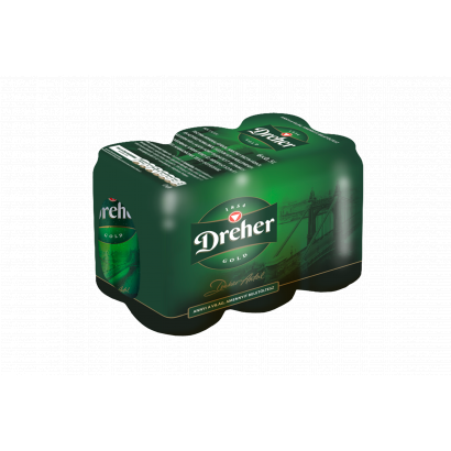 Dreher Gold minőségi világos sör 5% 6 x 0,5 l