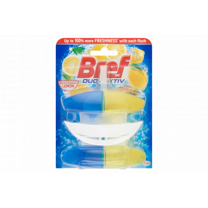 Bref Duo-Aktiv Mediterranean Lemon wc frissítő 2 x 50 ml