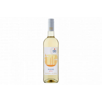 BB Napos Oldal Balatonboglári Muskotály édes fehérbor 0,75 l